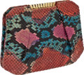 Luxury Accessories:Bags, Judith Leiber Vintage Multicolor Snakeskin Evening Bag. ...