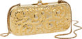 Luxury Accessories:Bags, Judith Leiber Gold Sunflower Motif Early Design Minaudiere Bag. ...