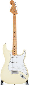 Musical Instruments:Electric Guitars, 2006 Fender Reverse Proto Stratocaster White Solid Body ElectricGuitar, #SZ4098079....