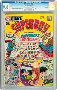 Superboy #165 Twin Cities pedigree (DC, 1970) CGC NM/MT 9.8 Off-white to white pages