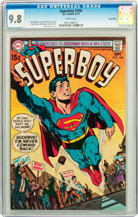 Superboy #168 Twin Cities pedigree (DC, 1970) CGC NM/MT 9.8 White pages