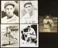 Baseball Collectibles:Photos, Mid Century Baseball Hall of Famers Signed Photographs Lot of 5....