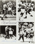 Boxing Collectibles:Autographs, Muhammad Ali Twice Signed Photograph....