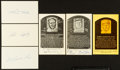 Baseball Collectibles:Others, Baseball Legends Signed Postcards and Index Cards Lot of 6....