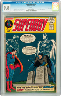 Superboy #182 Twin Cities pedigree (DC, 1972) CGC NM/MT 9.8 White pages