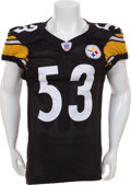 Football Collectibles:Uniforms, 2004 Clark Haggans Game Worn Pittsburgh Steelers Jersey....