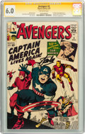 Silver Age (1956-1969):Superhero, The Avengers #4 CGC Signature Series (Marvel, 1964) CGC FN 6.0 Off-white pages....