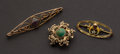 Estate Jewelry:Brooches - Pins, Antique Gold & Gemstone Pins. ... (Total: 3 Items)