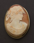 Estate Jewelry:Cameos, Exquisite Antique Gold Cameo. ...