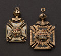 Estate Jewelry:Other , Two Masonic Gold Fobs. ... (Total: 2 Items)