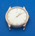 Timepieces:Wristwatch, Omega 14k Rose Gold Manual Wind Wristwatch. ...