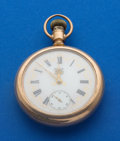 Timepieces:Pocket (post 1900), Rockford 18 Size 21 Jewel Grade 918 Rare Fancy Dial Pocket Watch....