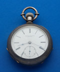 Timepieces:Pocket (pre 1900) , Rockford 4 Oz. Coin Silver 18 Size Transitional Pocket Watch. ...
