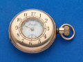 Timepieces:Pocket (post 1900), Swiss Imperial Fancy Dial Gold Filled Demi-Hunter Pocket Watch. ...