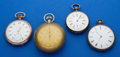 Timepieces:Pocket (post 1900), Three Swiss Pocket Watches & One Pocket Timer. ... (Total: 4Items)