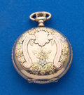 Timepieces:Pocket (post 1900), Waltham O Size Multi-Color Gold Filled Pocket Watch. ...