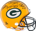Football Collectibles:Helmets, 1990's Packers Legends Multi Signed Authentic Helmet....
