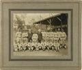 Baseball Collectibles:Photos, 1916 Hartford Senators Team Cabinet Photograph with K.M. Landis....
