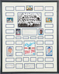 Autographs:Others, 1959 Los Angeles Dodgers Team Signed Display....