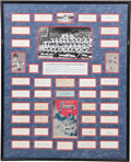 Autographs:Others, 1948 Boston Braves Team Signed Display....