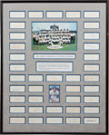 Autographs:Others, 1965 Los Angeles Dodgers Team Signed Display....