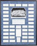 Autographs:Others, 1968 Detroit Tigers Team Signed Display....