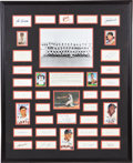 Autographs:Others, 1962 San Francisco Giants Team Signed Display....