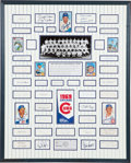 Autographs:Others, 1969 Chicago Cubs Team Signed Display....
