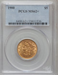 Liberty Half Eagles, 1900 $5 MS62+ PCGS. PCGS Population (2972/3148). NGC Census:(5423/5007). Mintage: 1,405,730. Numismedia Wsl. Price for pro...