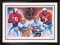 Football Collectibles:Others, 1990 Heisman Trophy Winners Multi Signed Lithograph....