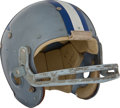 Football Collectibles:Helmets, 1965-66 Dallas Cowboys Game Worn Laminated Geodetic Helmet - Rare Style!...
