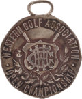 Golf Collectibles:Miscellaneous, 1921 Bobby Jones Western Golf Association Open Silver Fourth PlaceMedal....