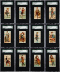 "Non-Sport Cards:Sets, 1889 N232 Kinney ""Surf Beauties"" Complete Set (50) - #1 on the SGCSet Registry!..."