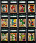 """Non-Sport Cards:Sets, 1935 R48-2 Gum Inc. """"Film Funnies-With Names"""" Complete Set (24) -#1 on the SGC Set Registry! ..."""