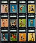 "Non-Sport Cards:Sets, 1944 R59 Gum Inc. ""American Beauties"" Complete Set (24) - #1 on theSGC Set Registry! ..."