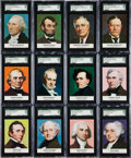 "Non-Sport Cards:Sets, 1960 Golden Press ""Presidents"" SGC-Graded Complete Set (33) - #1 onthe SGC Set Registry!..."
