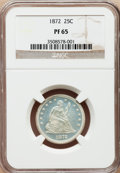 Proof Seated Quarters, 1872 25C PR65 NGC....