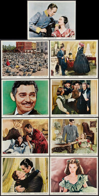 """Gone with the Wind (MGM, R-1967). Color Photos (9) (8"""" X 10""""). Academy Award Winners. ... (Total: 9 Items)"""