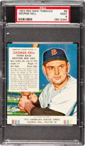 Baseball Cards:Singles (1950-1959), 1953 Red Man Tobacco George Kell #8 PSA Mint 9 - Pop One With None Higher! ...