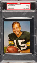 Football Cards:Singles (1960-1969), 1964 Kahn's Weiners Bart Starr PSA Mint 9 - Pop Two With None Higher! ...