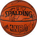 Basketball Collectibles:Others, 1993-94 Chicago Bulls Team Signed Basketball with Michael JordanSigned Photograph....