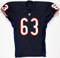 Football Collectibles:Uniforms, 1991 Jay Hilgenberg Game Worn Chicago Bears Jersey....
