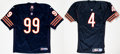 Football Collectibles:Uniforms, 1990's Jim Flanigan and Steve Walsh Signed Authentic Jerseys Lot of 2....