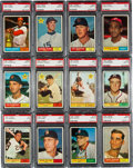 Baseball Cards:Lots, 1961 Topps Baseball PSA Mint 9 Collection (44). ...