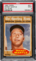 Baseball Cards:Singles (1960-1969), 1962 Topps Mickey Mantle All Star #471 PSA Mint 9....