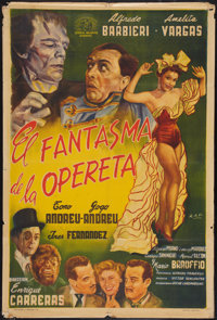 """The Phantom of the Operetta (General Belgrano, 1955). Argentinean Poster (29"""" X 43""""). Horror"""