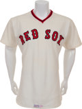 Baseball Collectibles:Uniforms, 1977 Don Zimmer Game Worn Boston Red Sox Jersey. ...