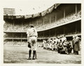 Baseball Collectibles:Photos, Babe Ruth Farewell Photograph by Nat Fein. ...