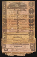 Confederate Notes:Group Lots, 1862 - 1864 Lost Cause Notes.. ... (Total: 12 notes)