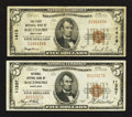 National Bank Notes:Maryland, Baltimore, MD - $5 1929 Ty. 1 The First NB Ch. # 1413; $5 1929 Ty.1 National Central Bank Ch. # 11207. ... (Total: 2 notes)